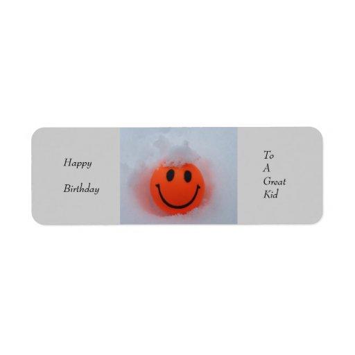 Happy Birthday to a Great Kid Gift Label Return Address Label