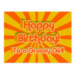 Happy Birthday to a Groovy Girl! Postcards