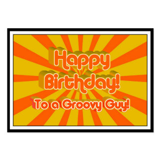 Happy Birthday to a Groovy Guy! Business Card Templates