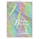 Happy Birthday To a Lovely Gymnasts Greeting Card