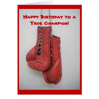 Happy Birthday to a True Champion! Greeting Card