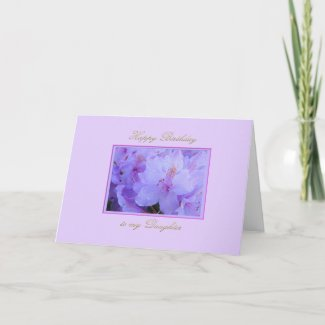 Happy Birthday to Daughter with Purple Hydrangeas Card