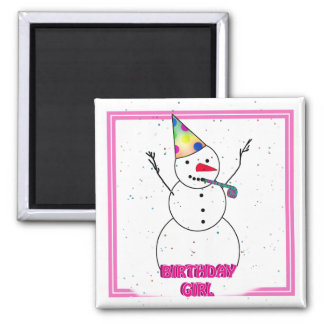 Happy Birthday to Her! 2 Inch Square Magnet