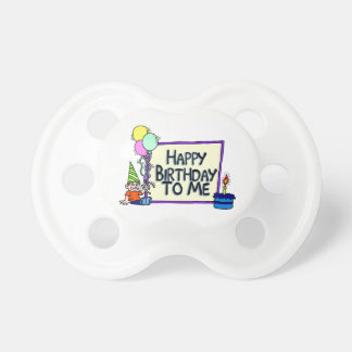 Happy Birthday To Me Boy BooginHead Pacifier