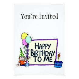 Happy Birthday To Me Boy Card