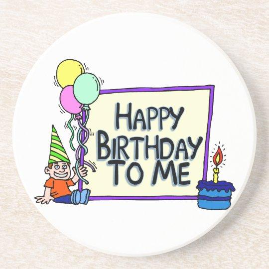 Happy Birthday To Me Boy Drink Coaster