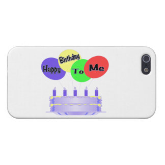 Happy Birthday To Me Cake & Balloons Covers For iPhone 5