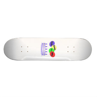Happy Birthday To Me Cake & Balloons Skate Board Deck