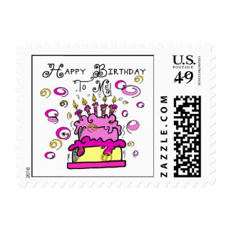 Happy Birthday To Me Postage Stamp