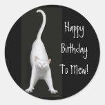 Happy Birthday to Mew Cat Sticker