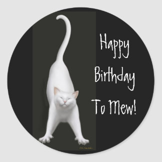 Happy Birthday to Mew Cat Sticker