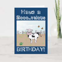 Happy Birthday to MOO! - Cow Customizable Card