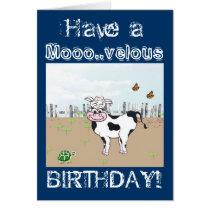 Happy Birthday to MOO! - Cow Customizable Card