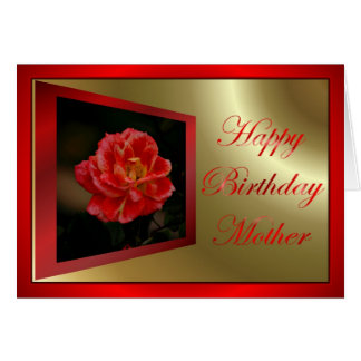 Happy Birthday to mother from son or daughter kids Card