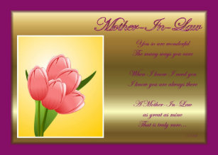 Mother in law birthday cards zazzle happy birthday to mother in law with flowers card m4hsunfo