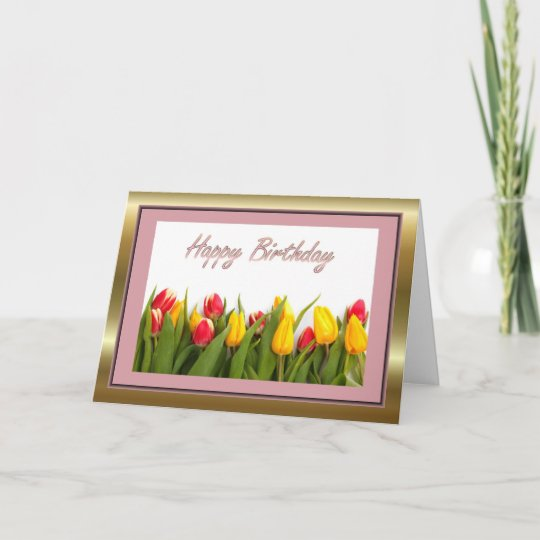 Happy Birthday To Mother In Law With Flowers Card Zazzle