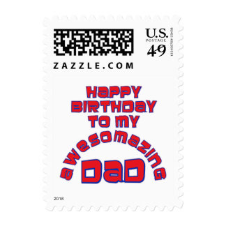 Happy Birthday to my AWESOMAZING DAD! Stamps