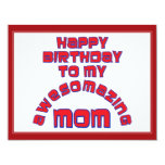 Happy Birthday to my  AWESOMAZING MOM! Custom Announcements