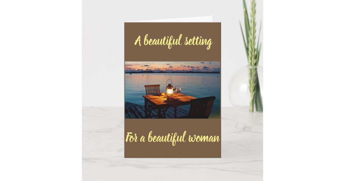 Happy Birthday To My Beautiful Wife Card Zazzle