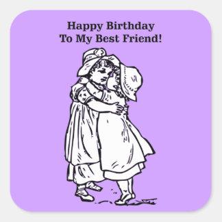 Happy Birthday to my best friend! Square Sticker