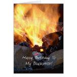 Happy Birthday to my Blacksmith Greeting Card