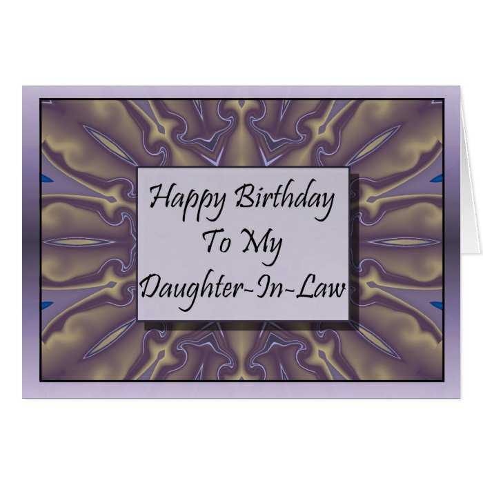 Happy Birthday To My Daughter-In-Law Card