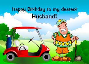 Happy Birthday To My Dearest Husband Golfer Card