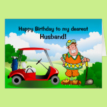 Happy Birthday to my dearest Husband-Golfer Card