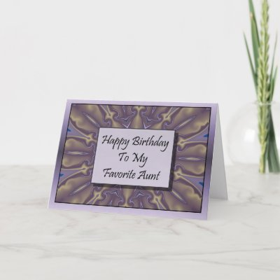 happy birthday aunt. Happy Birthday To My Favorite Aunt Greeting Cards by TheStampStore