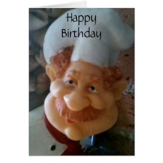 """HAPPY BIRTHDAY TO MY """"FAVORITE CHEF"""" CARD"""
