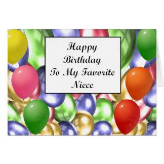Happy Birthday To My Favorite Niece Card