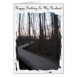 Happy Birthday To My Husband - Life Journey Greeting Cards