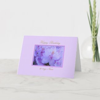 Happy Birthday to my Niece with Purple Hydrangea Card