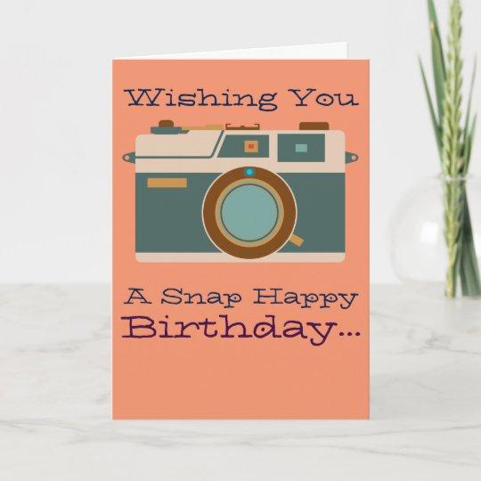 Happy Birthday To Photographer Photography Lover Card Zazzle