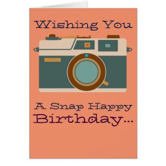 Happy Birthday to Photographer Photography Lover Card