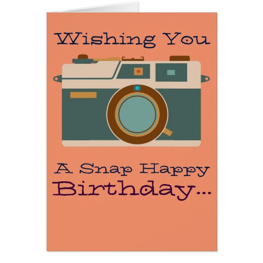 Happy birthday to photographer photography lover card zazzle happy birthday to photographer photography lover card bookmarktalkfo Image collections