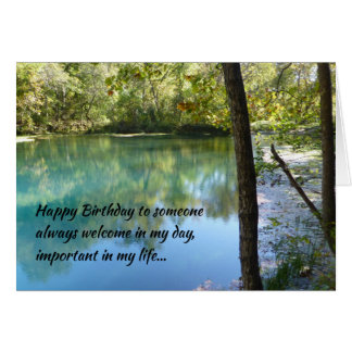 Happy Birthday to someone always welcome... Greeting Card