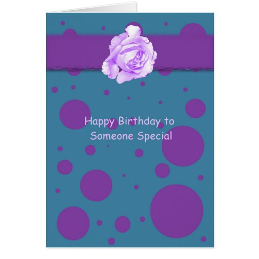 Happy Birthday To Someone Special Greeting Card Zazzle Happy Birthday Wishes To A Special Person