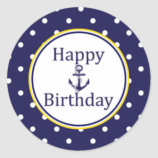 Happy Birthday Nautical Gift Wrap Happy Birthday Nautical Gift