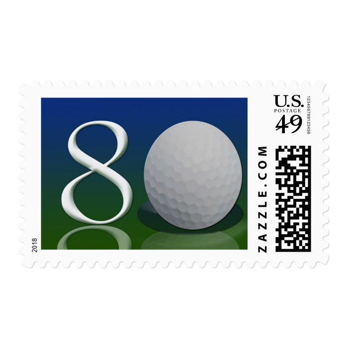 Happy Birthday to the 80 year old golf nut Stamp