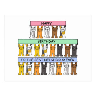 Happy Birthday to the Best Neighbour Ever Postcard