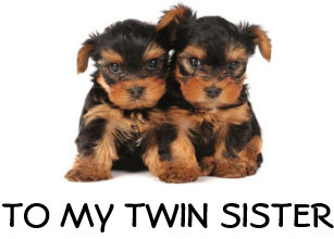 HAPPY BIRTHDAY TO THE BEST TWIN SISTER EVER
