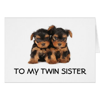 """HAPPY BIRTHDAY TO THE """"BEST TWIN SISTER EVER"""" MINE GREETING CARD"""