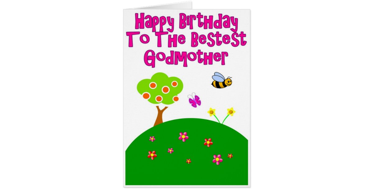 Birthday Wishes For Godmother Nicewishes Com: Happy Birthday To The Bestest Godmother Card