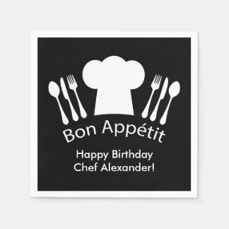 Happy Birthday to the Chef!  Bon Appetit Napkin