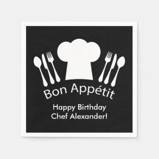 Happy Birthday to the Chef!  Bon Appetit Napkin