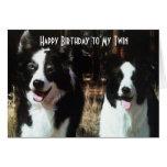 HAPPY BIRTHDAY TO THE FUN TWIN GREETING CARD