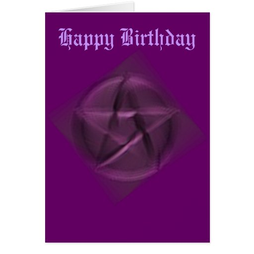 Happy Birthday to the Hidden Wiccan Greeting Cards