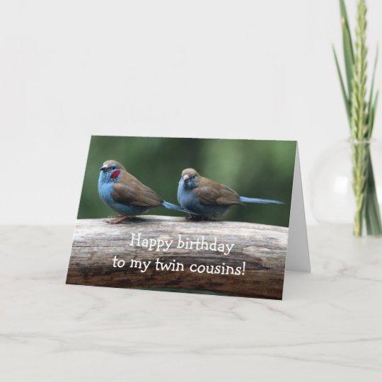 Happy Birthday To The Twins Birthday Card Zazzlecom