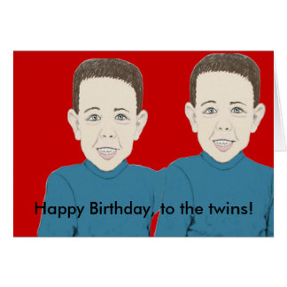 Happy Birthday to the twins Card